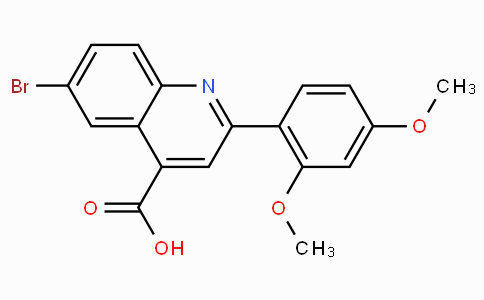 6-Bromo-2-(2,4-dimethoxyphenyl)quinoline-4-carboxylic acid