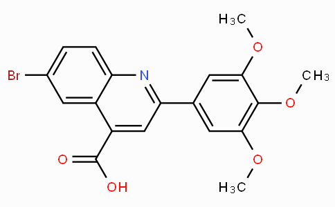 6-Bromo-2-(3,4,5-trimethoxyphenyl)quinoline-4-carboxylic acid