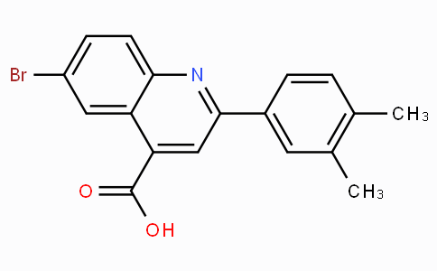 6-Bromo-2-(3,4-dimethylphenyl)quinoline-4-carboxylic acid