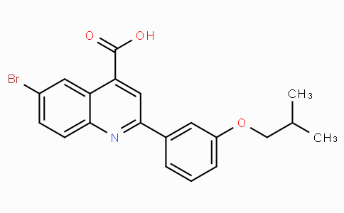 6-Bromo-2-(3-isobutoxyphenyl)quinoline-4-carboxylic acid