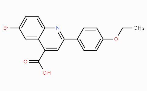 6-Bromo-2-(4-ethoxyphenyl)quinoline-4-carboxylic acid