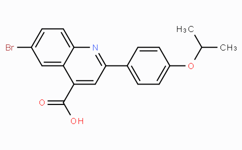 6-Bromo-2-(4-isopropoxyphenyl)quinoline-4-carboxylic acid