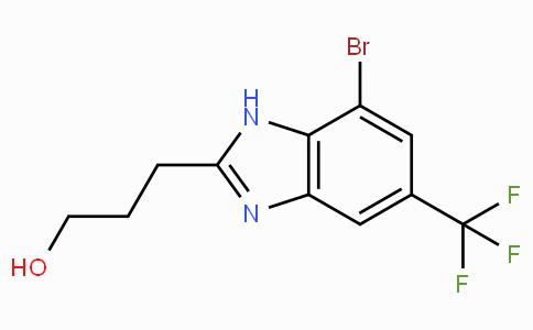 4-Bromo-2-(3-hydroxypropyl)-6-(trifluoromethyl)benzimidazole
