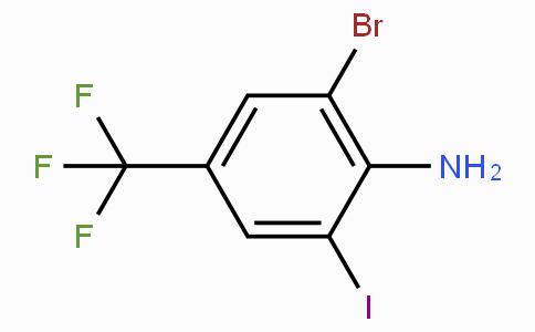 2-溴-6-碘-4-三氟甲基苯胺