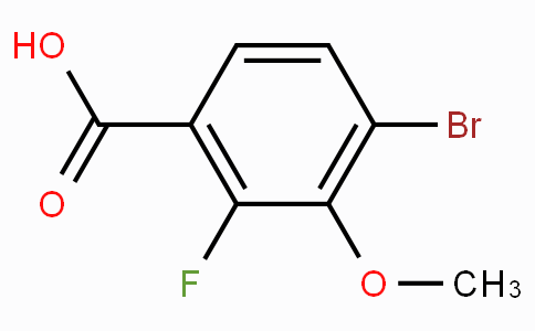 4-Bromo-2-fluoro-3-methoxybenzoic acid
