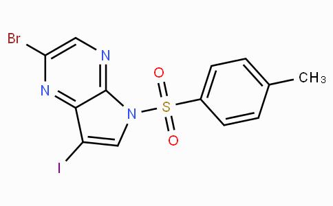 2-溴-7-碘-5-甲苯磺酰基-5H-吡咯并[2,3-B]吡嗪
