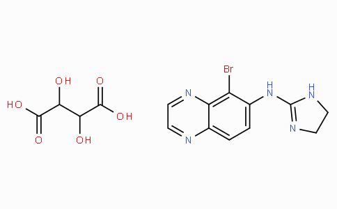 5-Bromo-N-(4,5-dihydro-1H-imidazol-2-yl)-6-quinoxalinamine tartrate