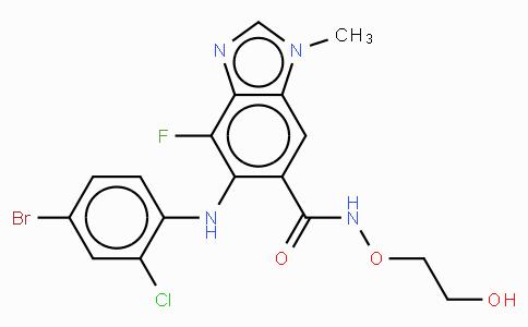 5-[(4-溴-2-氯苯基)氨基]-4-氟-N-(2-羟基乙氧基)-1-甲基-1H-苯并咪唑-6-甲酰胺