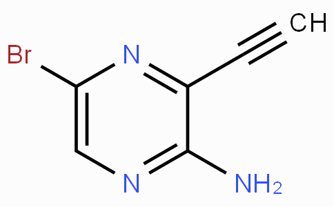 5-Bromo-3-ethynylpyrazin-2-amine