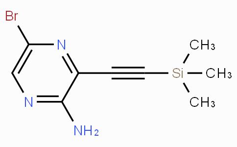 5-Bromo-3-((trimethylsilyl)ethynyl)pyrazin-2-amine