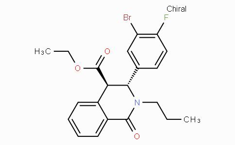 (3R,4R)-ethyl 3-(3-bromo-4-fluorophenyl)-1-oxo-2-propyl-1,2,3,4-tetrahydroisoquinoline-4-carboxylate