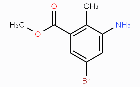 3-Amino-2-methyl-5-bromo benzoic acid methyl ester