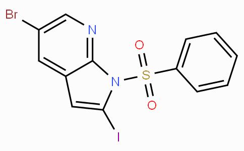 5-Bromo-2-iodo-1-(phenylsulfonyl)-1H-pyrrolo[2,3-b]pyridine
