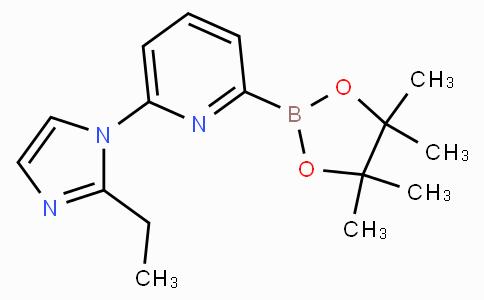 6-(2-Ethylimidazol-1-yl)pyridine-2-boronicacidpinacolester
