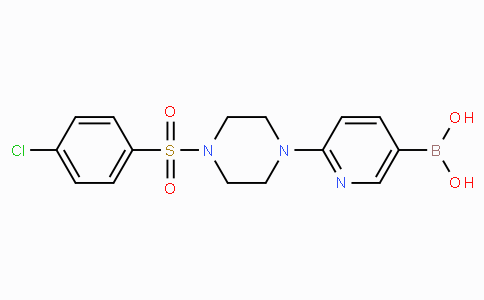 2-[4-(4-Chlorophenylsulfonyl)piperazin-1-yl]pyridine-5-boronicacid