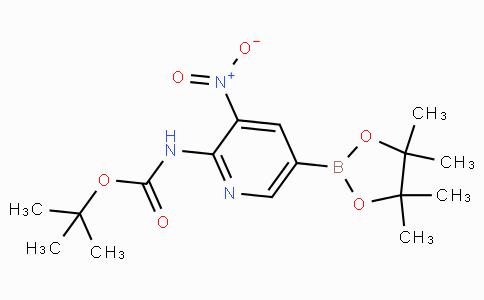 2-tert-Butyloxycarbonylamino-3-nitropyridine-5-boronicacidpinacolester