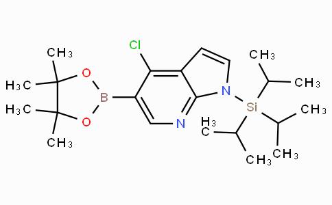 4-Chloro-1-(triisopropylsilyl)-1H-pyrrolo[2,3-B]pyridine-5-boronicacidpinacolester