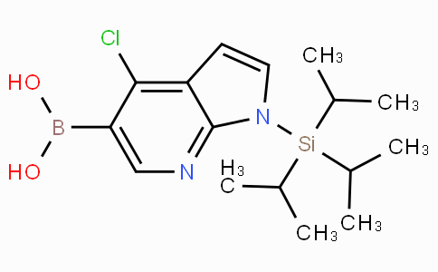 (9CI)-[4-氯-1-[三(1-甲基乙基)硅酯]-1H-吡咯并[2,3-B]吡啶-5-基]-硼酸