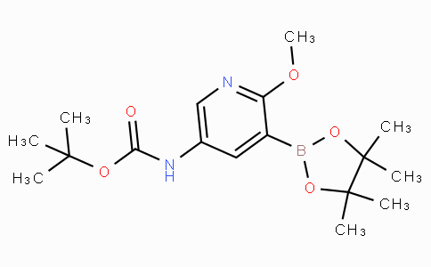 5-tert-Butyloxycarbonylamino-2-methoxypyridine-3-boronicacidpinacolester