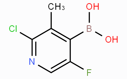 2-Chloro-5-fluoro-3-methylpyridine-4-boronicacid