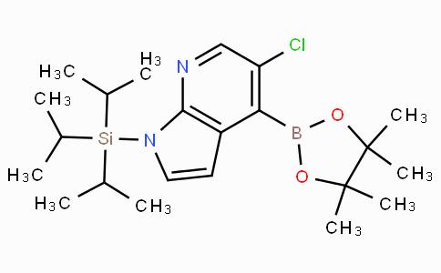 5-Chloro-1-(triisopropylsilyl)-1H-pyrrolo[2,3-B]pyridine-4-boronicacidpinacolester