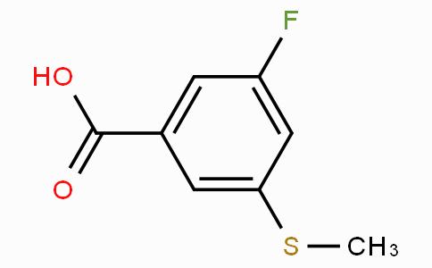 3-Fluoro-5-(methylthio)benzoic acid