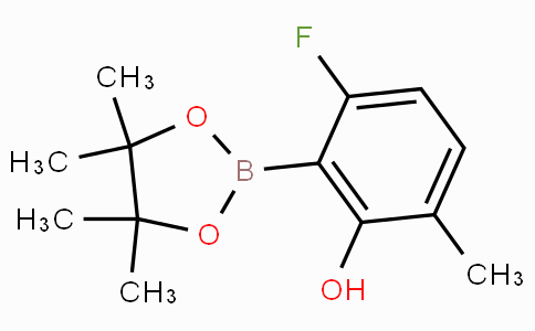 6-Fluoro-2-hydroxy-3-methylphenylboronic acid pinacol ester