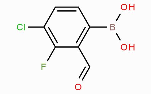 4-氯-3-氟-2-甲酰基苯基硼酸