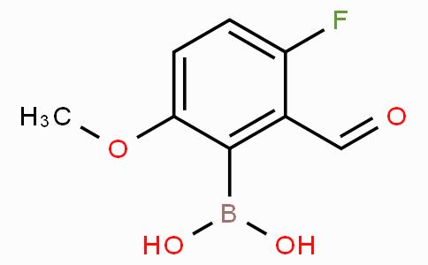 3-Fluoro-2-formyl-6-methoxyphenylboronic acid