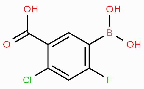 5-Carboxy-4-chloro-2-fluorophenylboronic acid