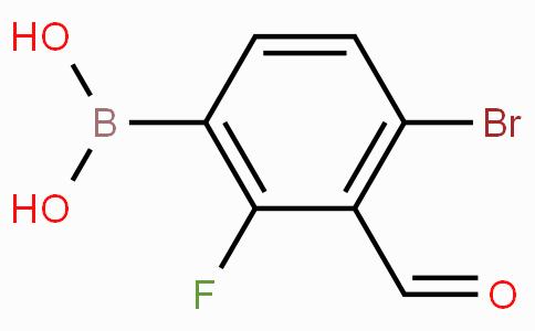4-溴-2-氟-3-甲酰基苯基硼酸