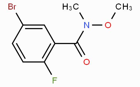 5-Bromo-2-fluoro-N-methoxy-N-methylbenzamide
