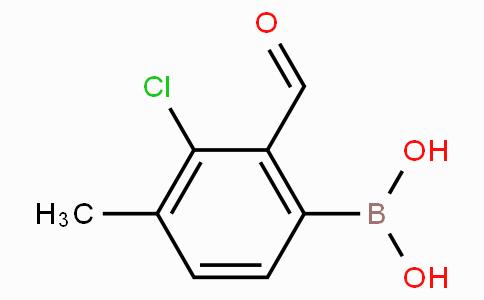 3-Chloro-2-formyl-4-methylphenylboronic acid