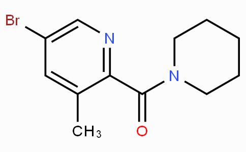 5-Bromo-3-methyl-2-[(piperidin-1-yl)carbonyl]pyridine