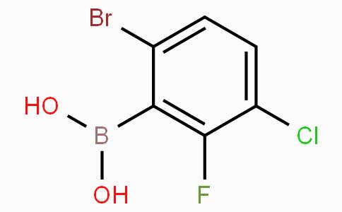 6-溴-3-氯-2-氟苯基硼酸