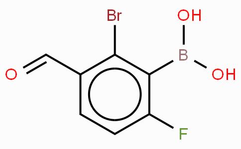 2-溴-6-氟-3-甲酰基苯基硼酸