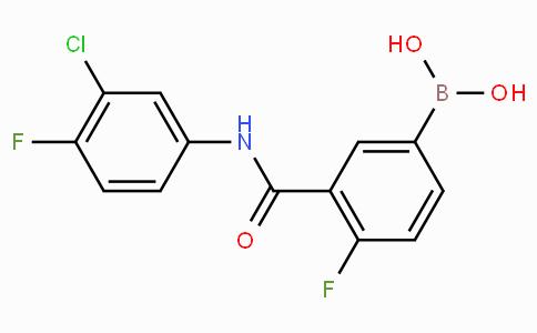 3-(3-氯-4-氟苯基氨基甲酰基)-4-氟苯基硼酸