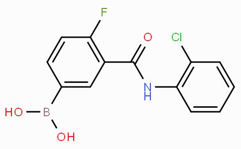 4-Fluoro-3-(2-chloro-phenylcarbamoyl)phenylboronic acid