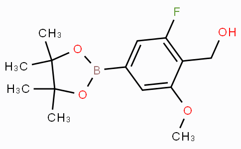 [2-Fluoro-6-methoxy-4-(4,4,5,5-tetramethyl-1,3,2-dioxaborolan-2-yl)phenyl]methanol