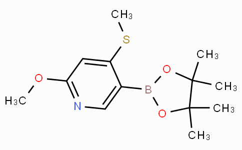 2-Methoxy-4-(methylthio)pyridine-5-boronic acid pinacol ester