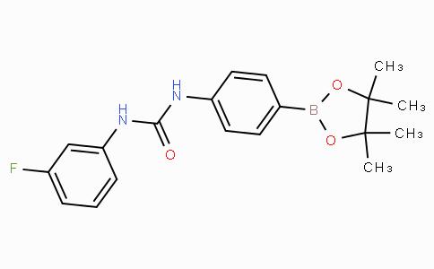 (4-(3-(3-Fluorophenyl)ureido)phenyl)boronic acid pinacol ester