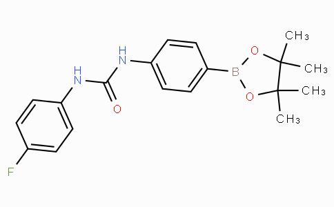 (4-(3-(4-Fluorophenyl)ureido)phenyl)boronic acid pinacol ester