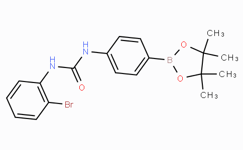 (4-(3-(2-Bromophenyl)ureido)phenyl)boronic acid pinacol ester