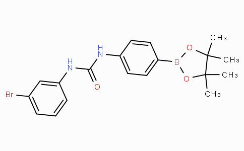 (4-(3-(3-Bromophenyl)ureido)phenyl)boronic acid pinacol ester