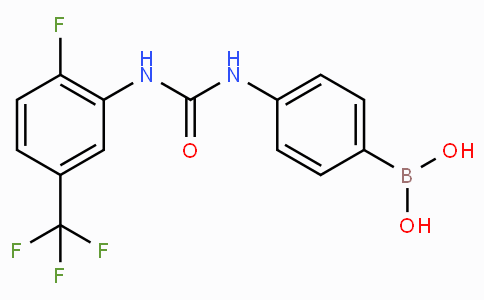 (4-(3-(2-Fluoro-5-(trifluoromethyl)phenyl)ureido)phenyl)boronic acid