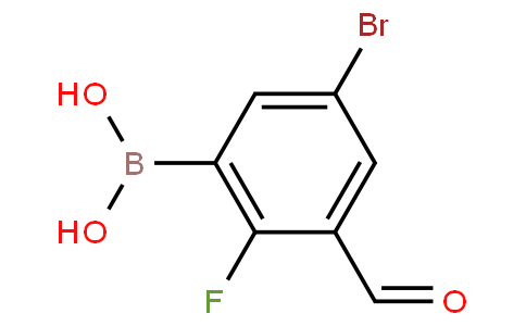 5-Bromo-2-fluoro-3-formylphenylboronic acid