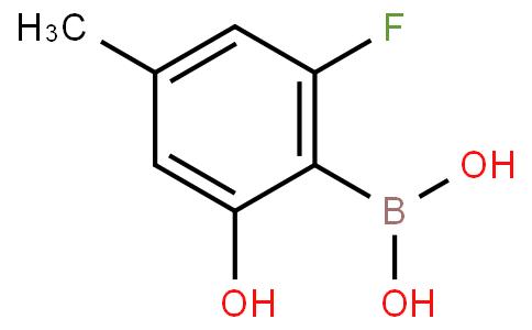 2-Fluoro-6-hydroxy-4-methylphenylboronic acid