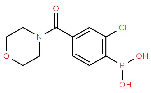 2-Chloro-4-(4-morpholinylcarbonyl)benzeneboronic acid