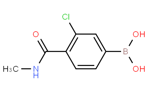 3-Chloro-4-(N-methylcarbamoyl)phenylboronic acid