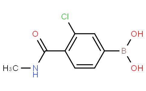 3-Chloro-4-(N-methylcarbamoyl)phenylboronic acid